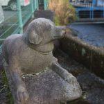 【熱海】和田川 愛犬の石像