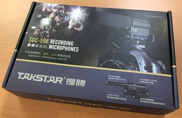 TAKSTARビデオカメラ用マイク_外箱
