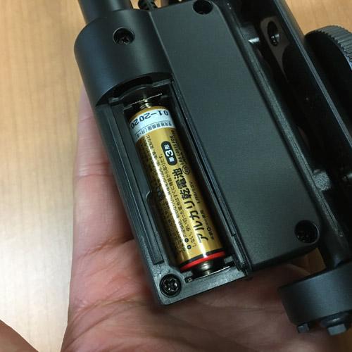 TAKSTARビデオカメラ用マイク_電池