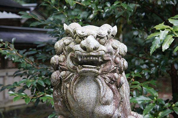 上阿田木神社 狛犬