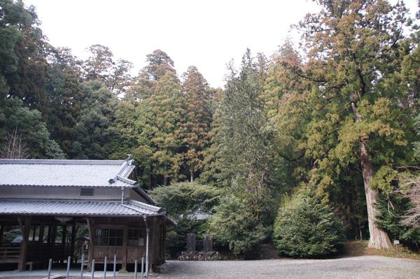 上阿田木神社 境内