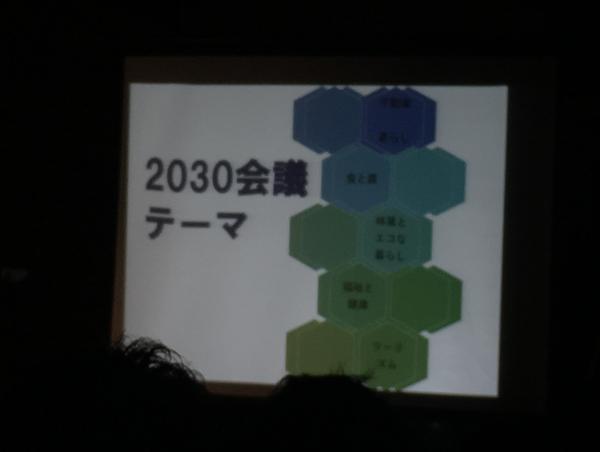 2030会議のテーマ