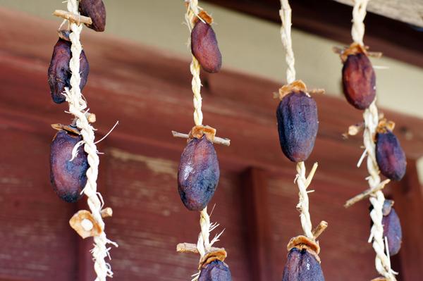 田舎ごはんとカフェ朴(ぼく)の干し柿