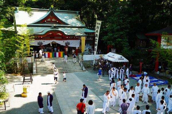 02_来宮神社俯瞰神事前