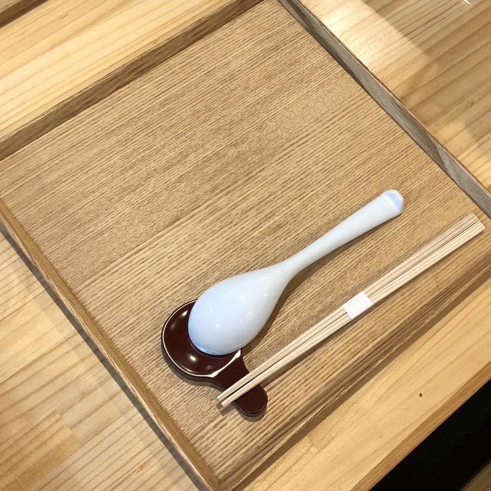 らぁ麺屋 飯田商店テーブル